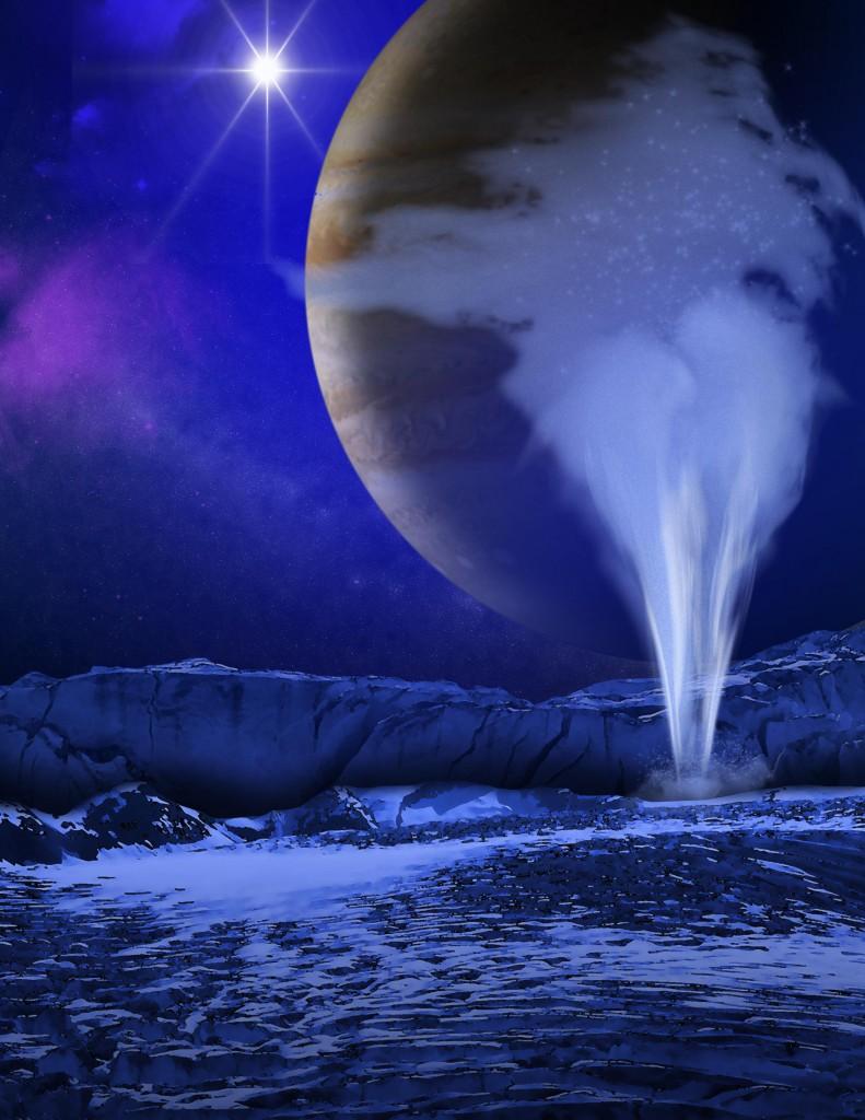 Europa Shoots Water