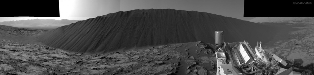 Dark Sand Dune on Mars