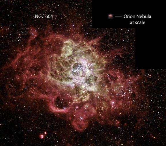 M33 NGC-604 comparison