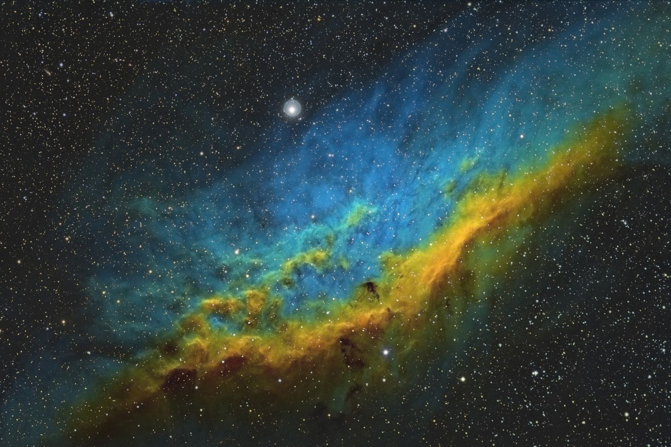 California Nebula - NGC 1499 - Oxygen filter