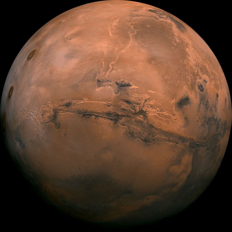 Mars Globe Valles Marineris Enhanced Full